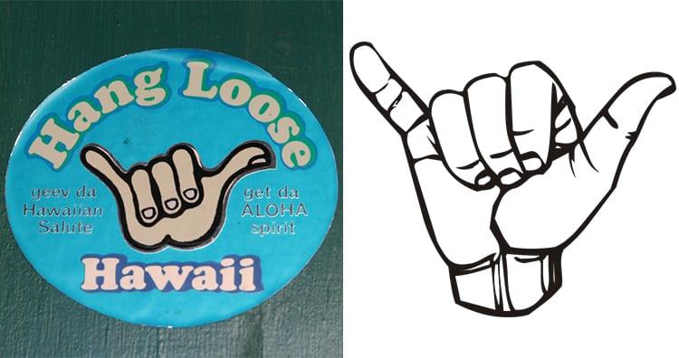 Hang Loose Gesture