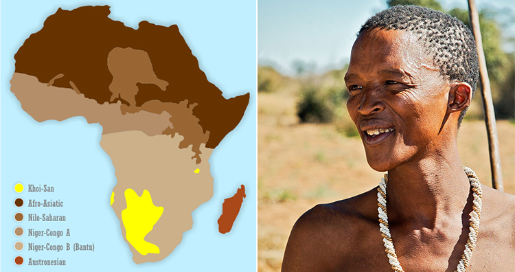 Khoisan language in africa, san tribesman