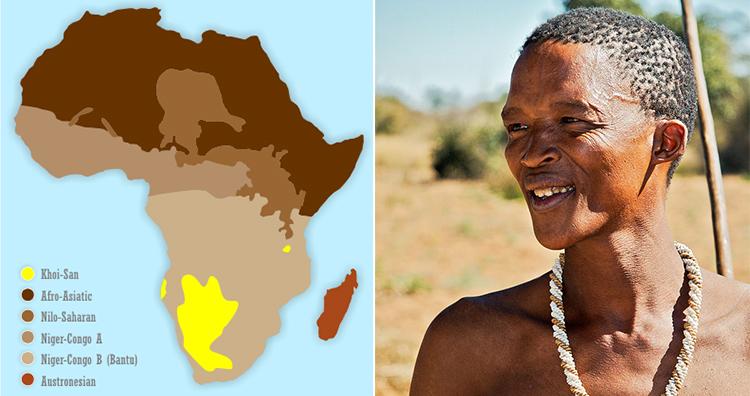 Khoisan language in africa, san tribesman