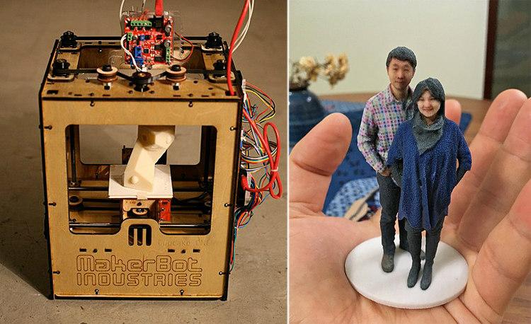 MakerBot 3D Printer and a 3D Selfie