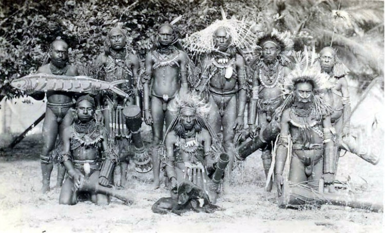 Male Members of a Tribe in Papua New Guinea