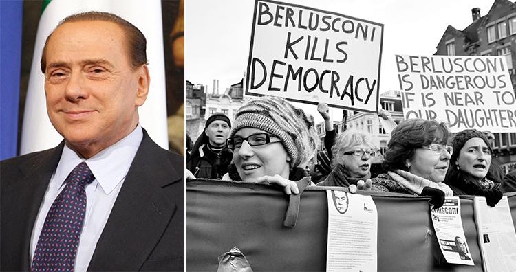Silvio Berlusconi, Italian protest in Amsterdam