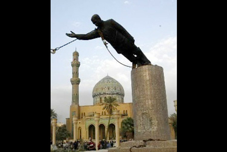 Statue of Saddam Hussein