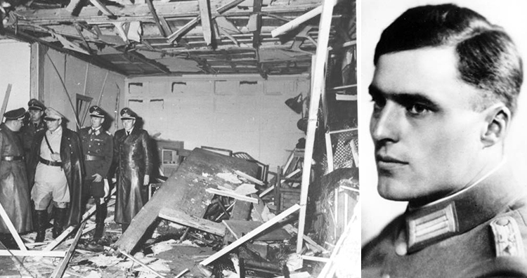 The Wolf's Lair conference room soon after the explosion, Claus von Stauffenberg