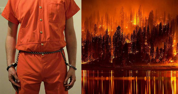 prisoner and california wild fire