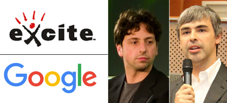 Excite and Google's Brin and Page