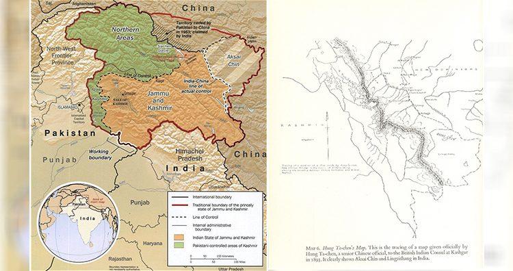 Kashmir map, Hung Ta Chen's Map