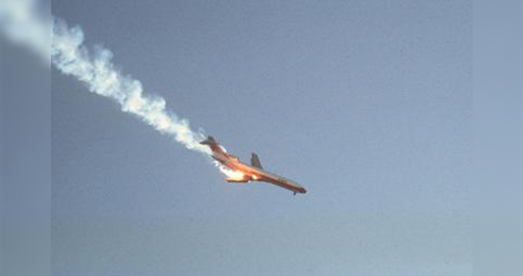 PSA182 seconds after the collision with Cessna 172