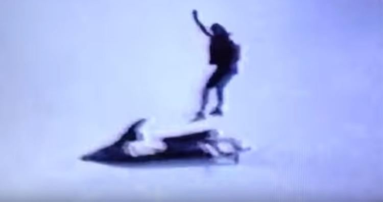 Robert Overacker on jet ski at Niagara Falls