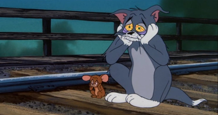 Tom and Jerry committed suicide scene from Blue Cat Blues