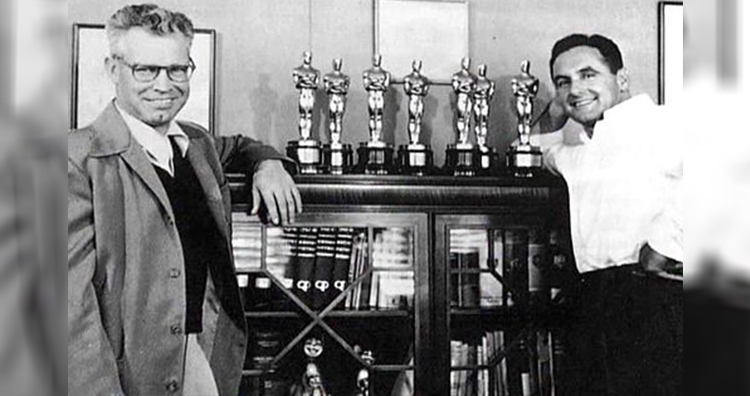 William Hannah and Joseph Barbera with seven Oscar awards for Best Short Film