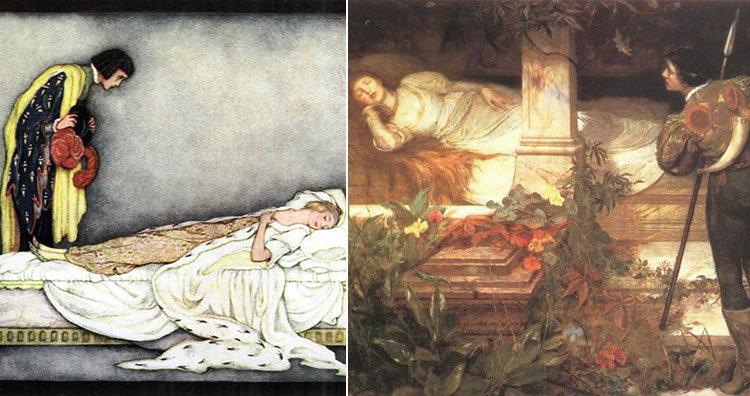 Sleeping Beauty paintings