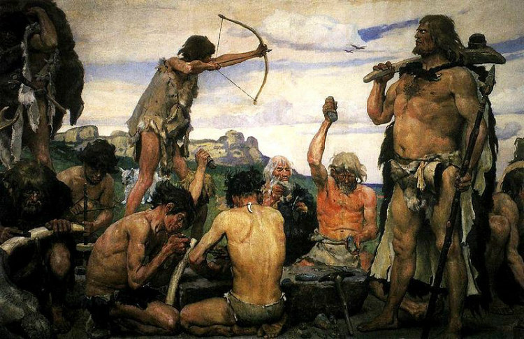 A Painting of the Stone Age, by Viktor Vasnetsov
