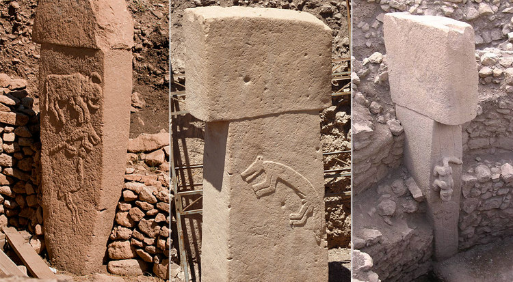 Animal Reliefs and Sculpture on the T-Shaped Pillars