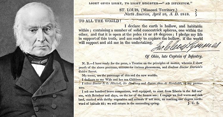 John Quincy Adams, Symmes' Circular No. 1, 1818