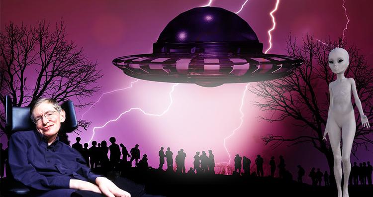 Stephen Hawking and Alien