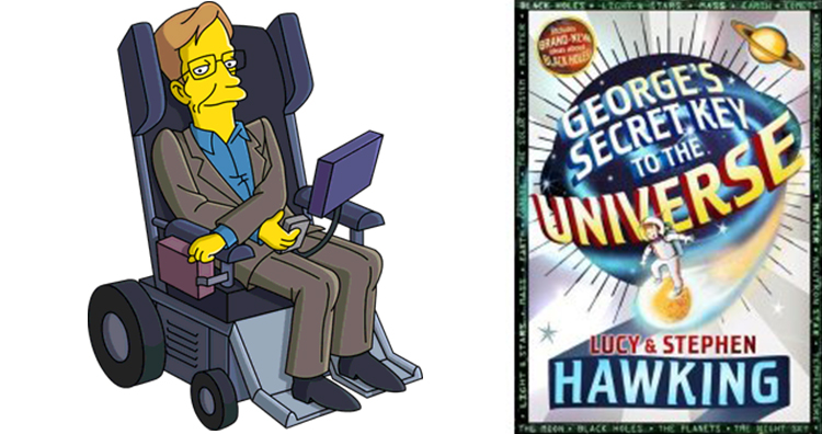 Stephen Hawking from The Simpsons, George's Secret Key to the Universe Book Cover