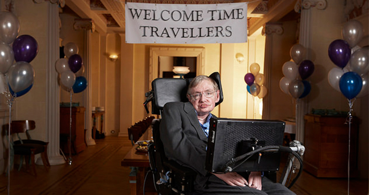 Stephen Hawking once held a champagne party in his room but publicized it after the event in a hope that time-travelers would know and attend his party.