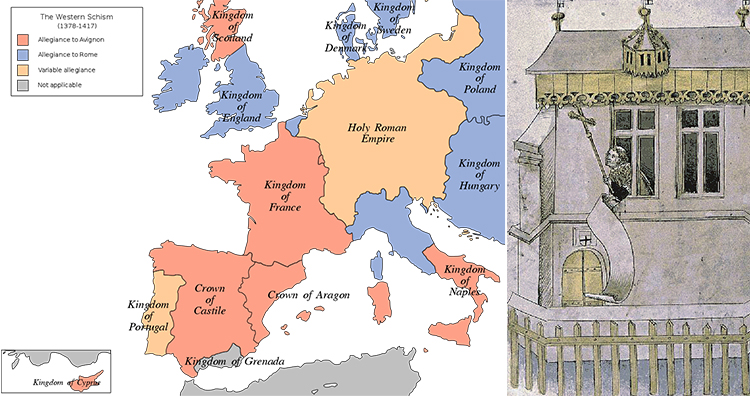 Western Schism, Habemus Papam after the election of Pope Martin V
