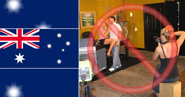 Australia prohibits the filming of pornography