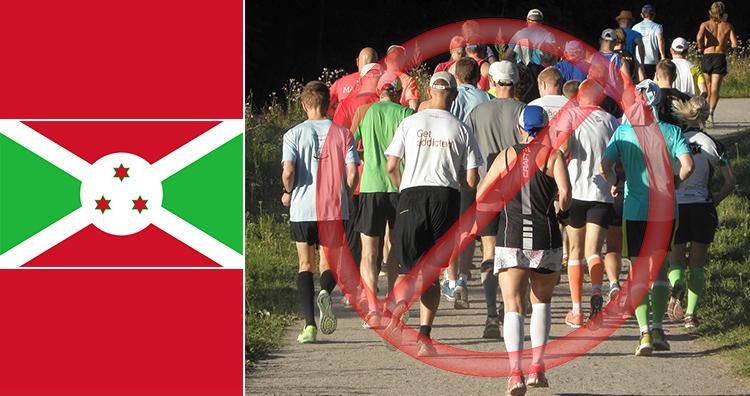 Burundi flag, Jogging group