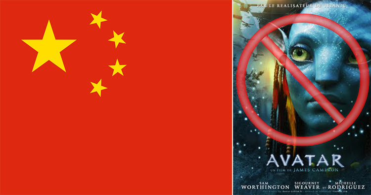 Chinese government banned 2D Screenings of Avatar
