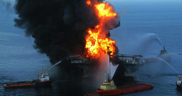 Engineering disasters: The rescue teams arrive at the Deepwater Horizon.
