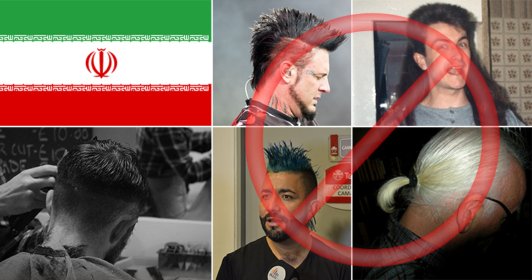 Iran Banned Western Hairstyles