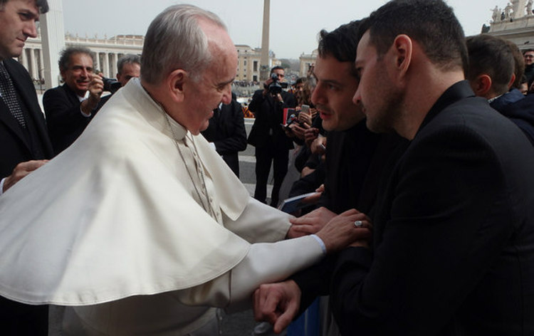 Jerome Kerviel Meets Pope Francis