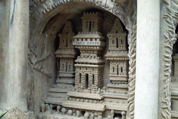 Palais Idéal Detail, Temple Hindou