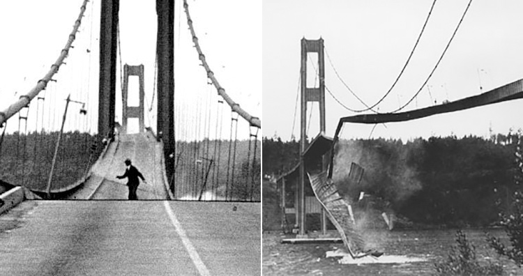 Worst structural collapses: The iconic Tacoma bridge collapses to the winds.