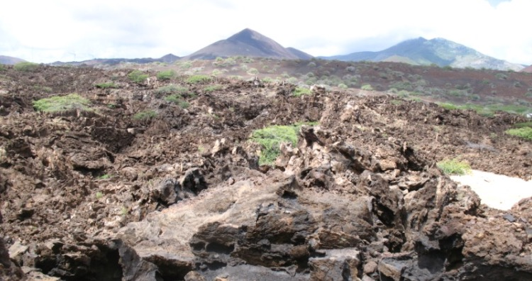 Lava fields on Ascension Island