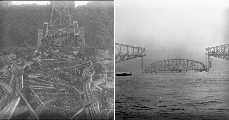 Engineering catastrophes: Quebec Bridge collapse in 1907 and 1916