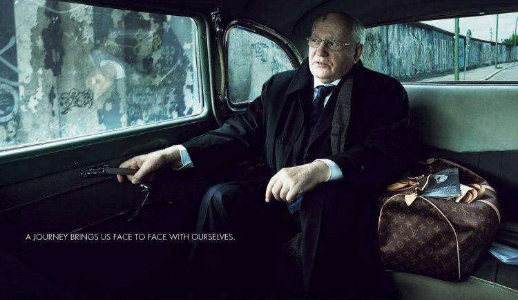 Gorbachev in Louis Vuitton Ad