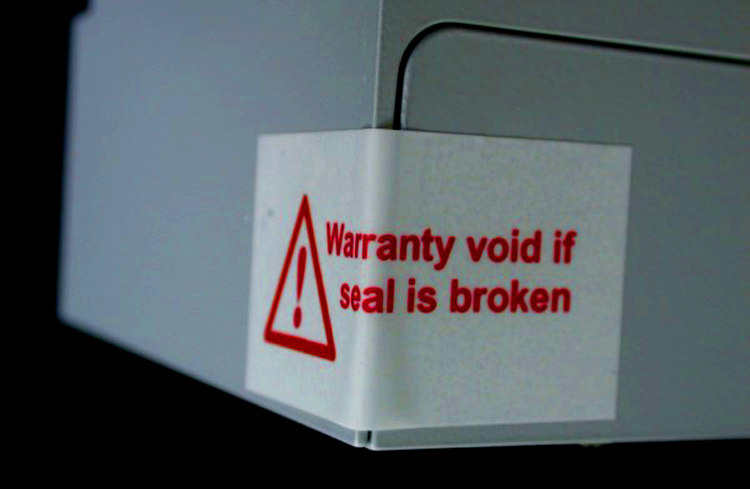 Warranty Void If Seal Broken
