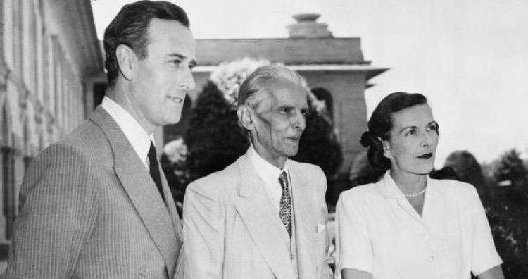 Lord and Lady Mountbatten meet Mr. Mohammed Ali Jinnah