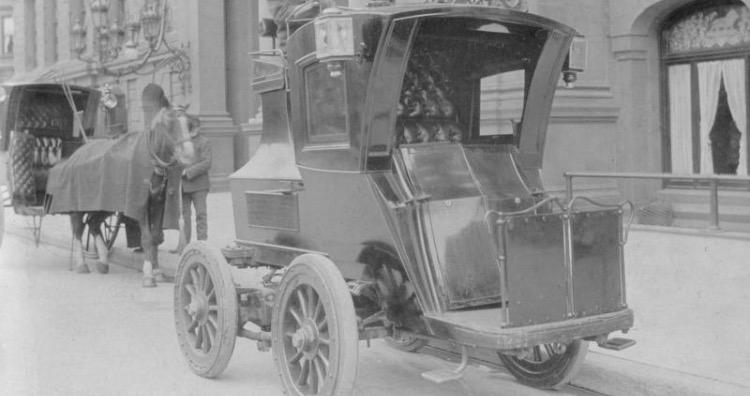 E.V.C. hansom cab