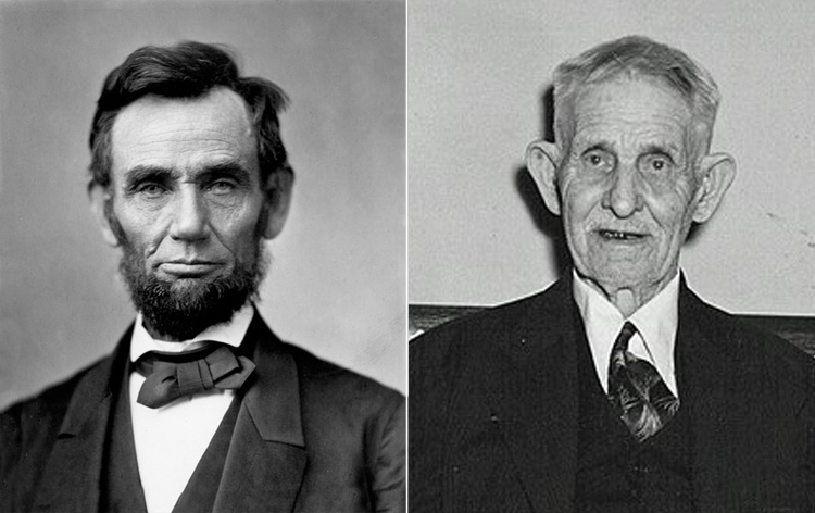 Abraham Lincoln and Samuel J. Seymour