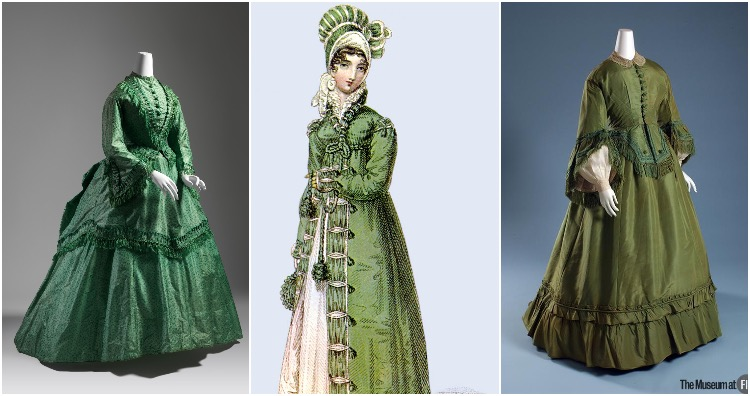 Arsenic green dresses