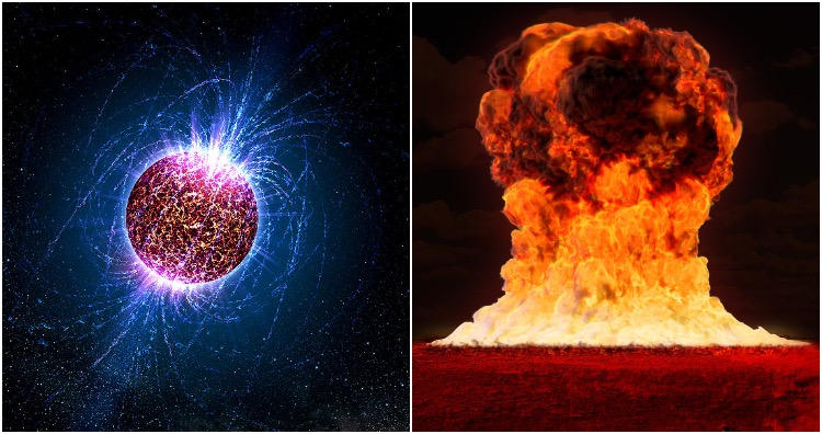 Neutron stars are so dense then a gummy bear dropped on its surface would create a force of 1000 nuclear bombs