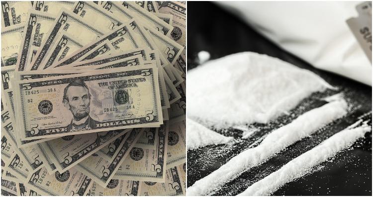 US dollar bills contain cocaine