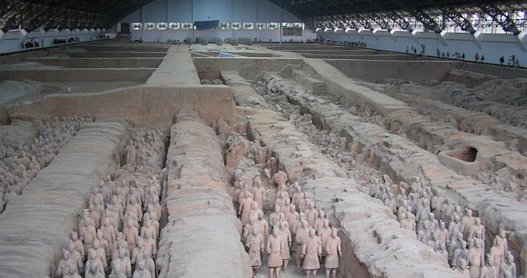 The Tomb of the Chinese Emperor Qin Shi Huang Di