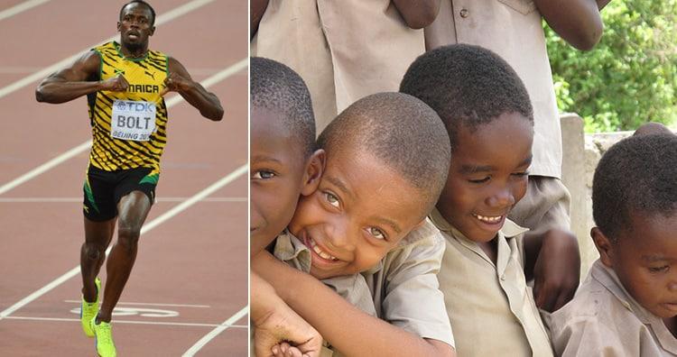 Bolt and Jamaica love