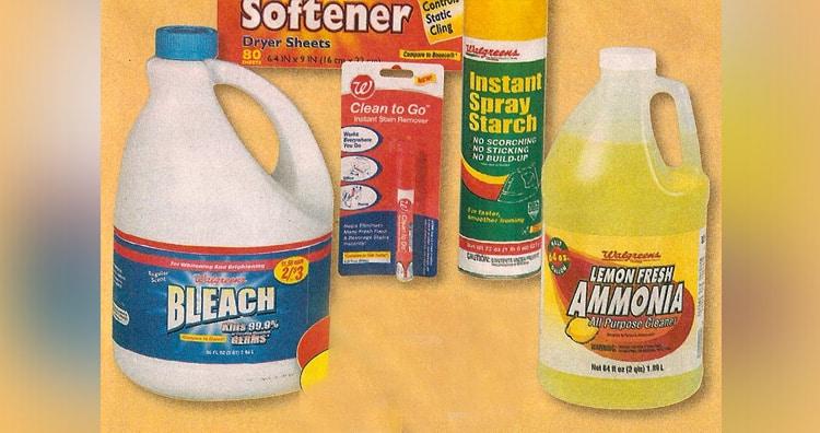 Ammonia and bleach