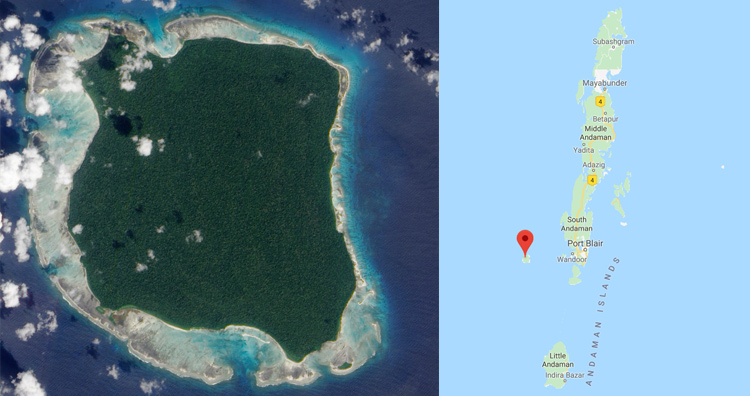 North Sentinel island location