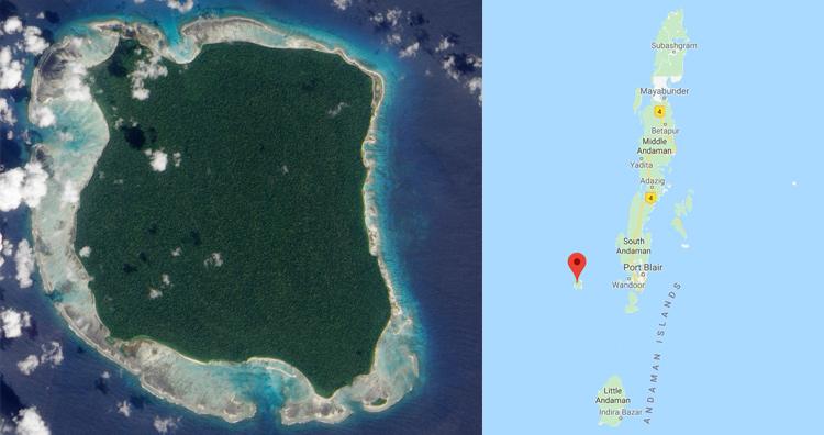 North Sentinel island location