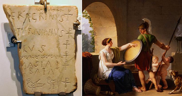 Tombstones in Sparta