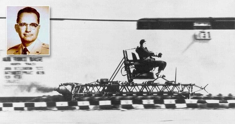 John Stapp Riding the Rocket Sled