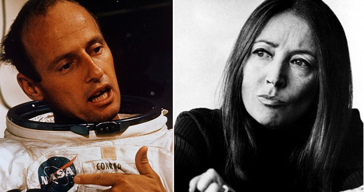 Pete Conrad and Oriana Fallaci