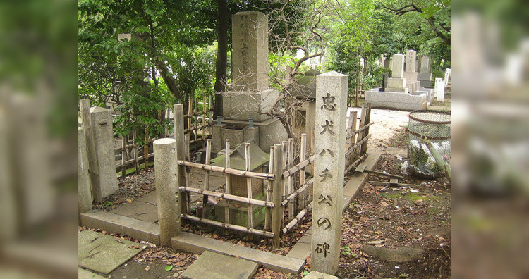 Hachiko, Uneo and Sakano's Grave